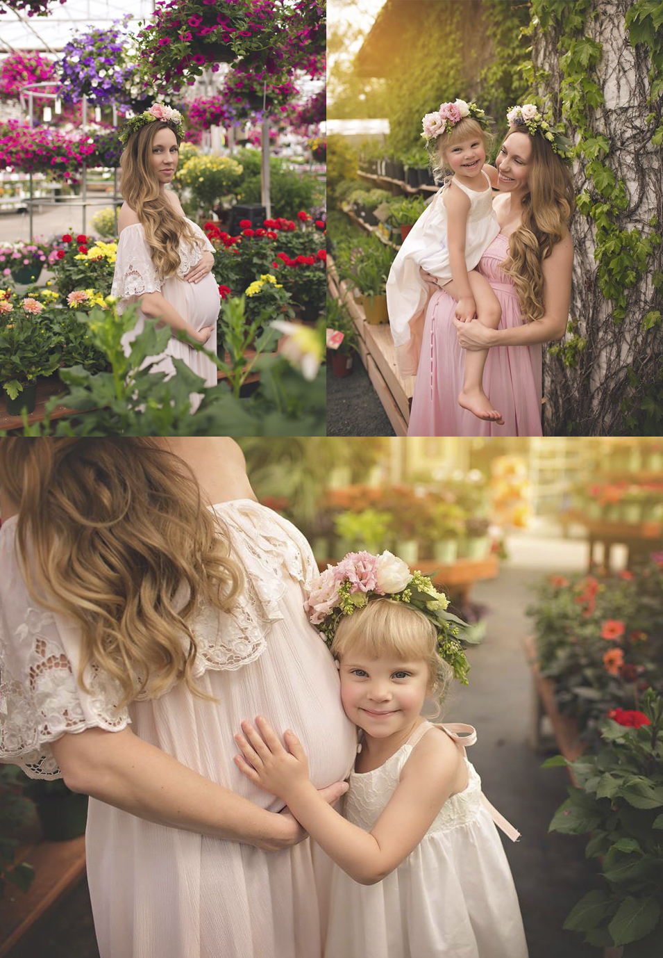 mommy and me floral crowns