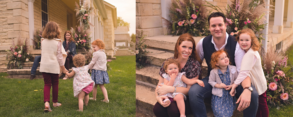Annual Family Photos with Jennifer Kaye Photography | Flower-Bombed Building