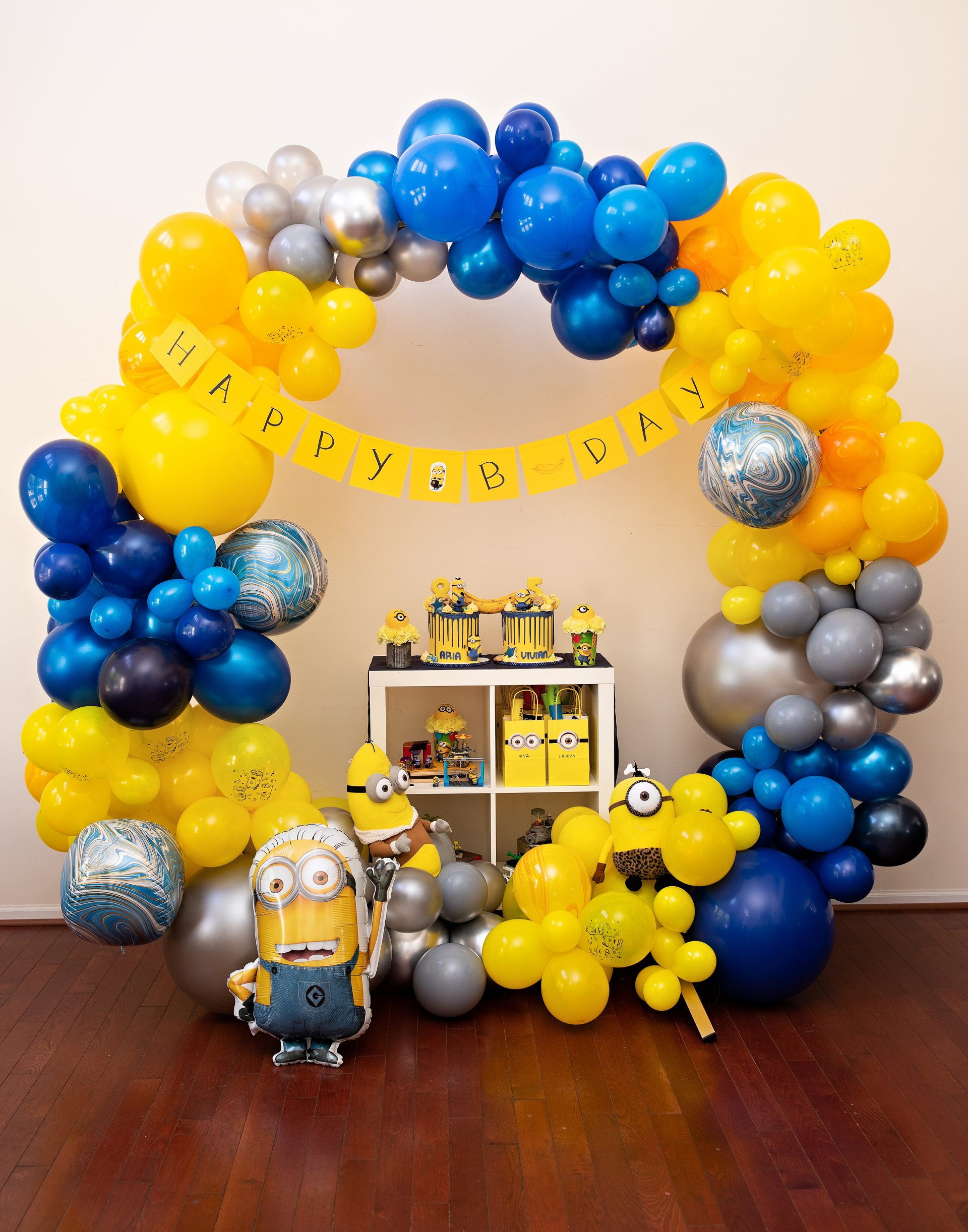 Minions-themed Pandemic-Safe Birthday Party | Jennifer Kaye Photography